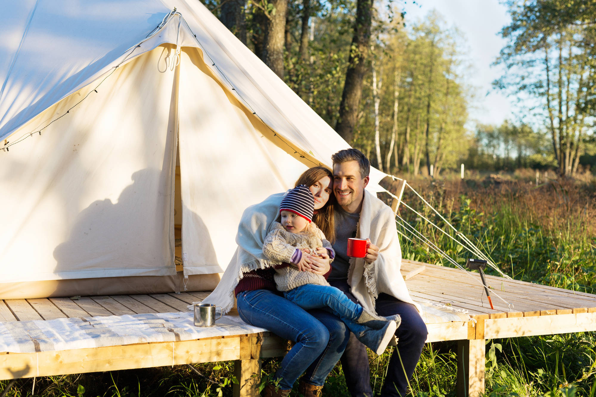 glamping with kids